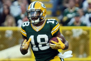 Can Cobb use his yellow gloves to catch 100 passes this season?