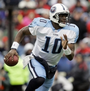 A much younger Vince Young once led the Titans to a string of upset victories. Hopefully he'll never have to do that with the Packers.