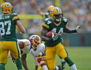 James Starks pounded through the Redskins defense on Sunday, to the tune of 132 yards.