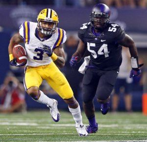 Odell Beckham Jr. of LSU makes his first appearance on the mock drafts this week.