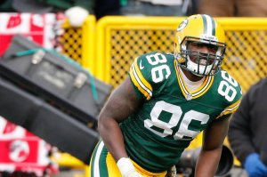 Brandon Bostick may be out until the start of the regular season. Will that affect things at tight end?