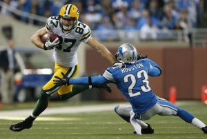 Jordy Nelson looks to continue his fantasy success against the Lions on Sunday.