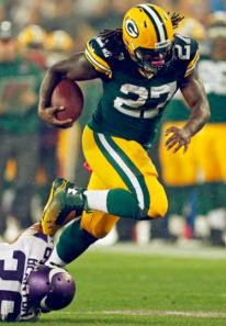 Despite just 13 carries, Eddie Lacy rumbled for more than 100 yards and two touchdowns.
